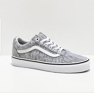 Old Skool Vans - Grey Rib Knit